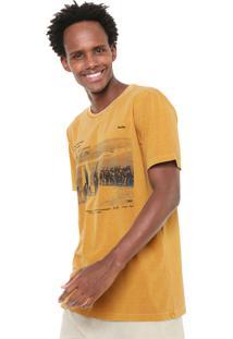 Camiseta Redley Tinturada Caramelo