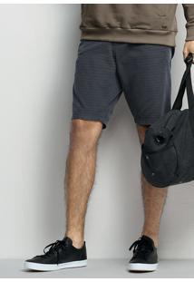 Bermuda Masculina Moderna Em Algodão Com Bolsos
