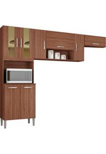 Cozinha Compacta 8 Portas Lavínia Capuccino - Poquema