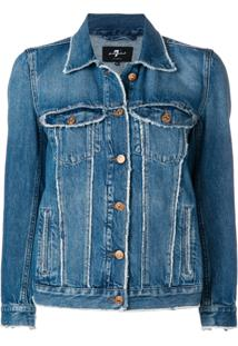 7 For All Mankind Jaqueta Jeanss - Azul