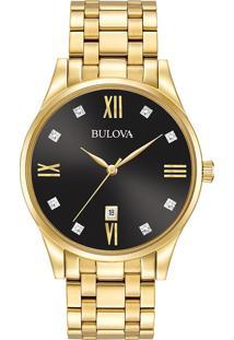 2031bd4b95a ... Relógio Bulova Masculino Aço Dourado - 97D108