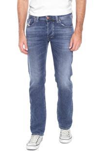 Calça Jeans Diesel Reta Larkee Azul