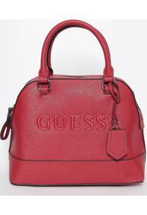 Bolsa Com Inscriã§Ã£O- Vermelha- 23X30X14Cm- Guessguess