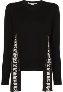 Stella Mccartney Suéter De Lã Com Logo - Preto