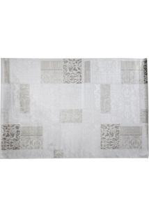 Tapete Modern Patch Retangular Viscose (100X140) Cinza Claro