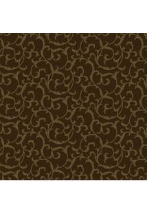 Papel De Parede Folhas- Marrom & Dourado- 1000X52Cm