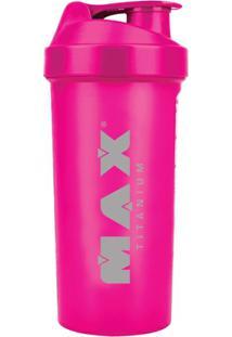Coqueteleira Rosa Fluorescente 600Ml - Max Titanium - Unissex