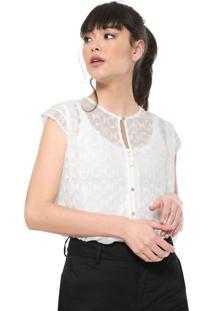 Camisa Colcci Textura Off-White