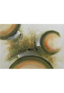 Quadro Artesanal Com Textura Abstrato Ii Verde 70X100 Uniart