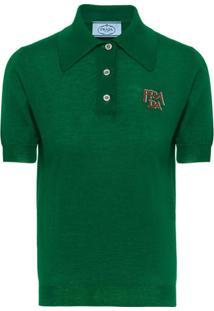 Prada Camisa Polo - Verde