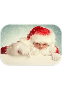 Tapete Decorativo Lar Doce Lar Papai-Noel Natal 40Cm X 60Cm Multicolorido