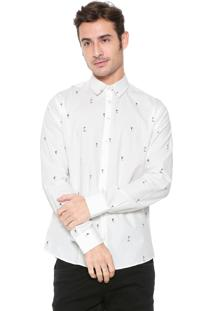 Camisa Colcci Slim Estampada Off-White
