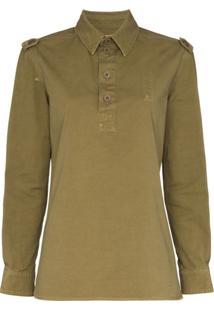 Saint Laurent Camisa Mangas Longas - Verde