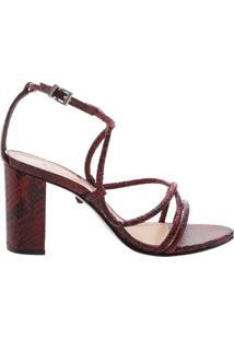 Sandália Python Curves Red | Schutz