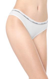 Kit 2Pçs Calcinha Calvin Klein Underwear Tanga Modern Branco