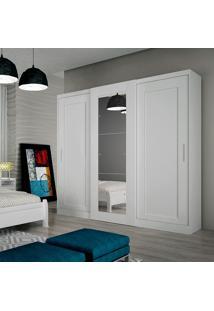 Guarda-Roupa Suécia Brilho C/ Espelho – Rufato - Branco