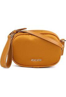 Bolsa Anacapri Mini Bag Cetim Feminina - Feminino-Amarelo