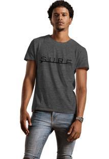 Camiseta Joss Lavada Surf Cinza Escuro