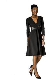 Vestido Recortes Alphorria - Feminino-Preto