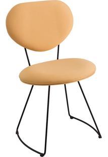 Cadeira Milão Meia Lua T1132-Daf Mobiliário - Amarelo