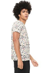 Camiseta Coca-Cola Jeans Full Print Branca