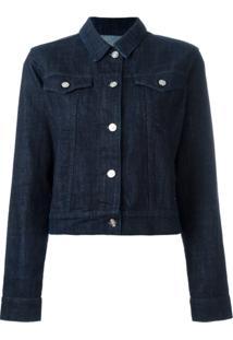 Kenzo Jaqueta Jeans Com Bordado - Azul