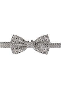 Dolce & Gabbana Gravata Borboleta Jacquard Estampada - Branco
