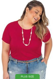 Blusa Em Malha Canelada Vermelho