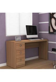 Mesa Para Computador Com 3 Gavetas Me4102 - Tecno Mobili - Amendoa