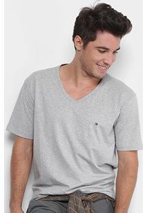 Camiseta Tommy Hilfiger Gola V Básica Masculina - Masculino