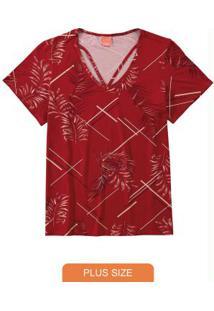 Blusa Vermelho Stripe Geométrica