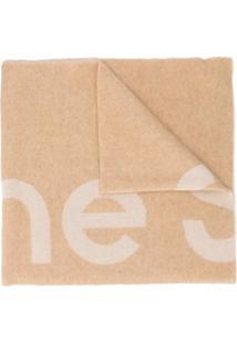 Acne Studios Cachecol Jacquard Com Logo - Neutro