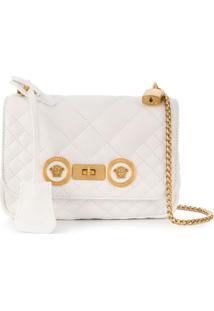 Versace Bolsa Tiracolo Icon Pequena - Branco