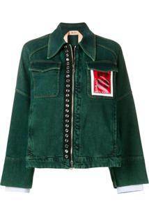 Nº21 Jaqueta Com Bolso Contrastante - Verde