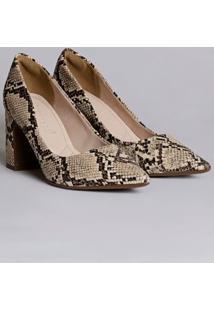 Sapato De Salto Feminino Bebecê Bege