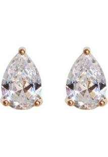 Brinco Folheado A Ouro Ania Store Taylor Cristal - Feminino-Cristal