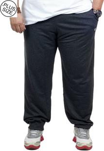 Calça Moletinho Plus Size Bigshirts - Chumbo Mescla