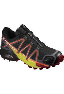 Tênis Salomon Masculino Speedcross 4 Cs 45 Preto/Vermelho