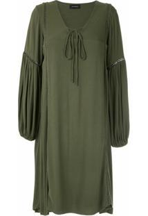 Olympiah Vestido Curto Hagia Mangas Bufantes - Verde
