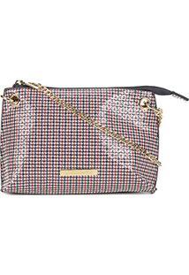 Bolsa Loucos & Santos Mini Bag Alça Corrente Feminina - Feminino-Marinho