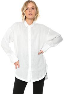 Camisa Linho Osklen Alongada Off-White
