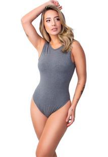 Body Vicbela Nadador Cavado Feminino Mescla