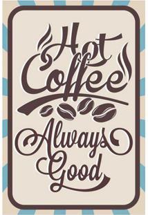 Placa Decorativa Hot Coffe Colorida