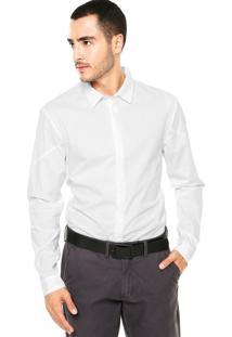 Camisa Calvin Klein Jeans Manga Longa Branca