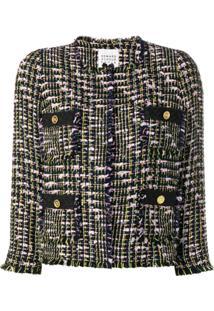 Edward Achour Paris Four Pockets Tweed Jacket - Preto