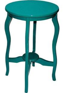 Mesa De Canto Laqueada Azul Turquesa
