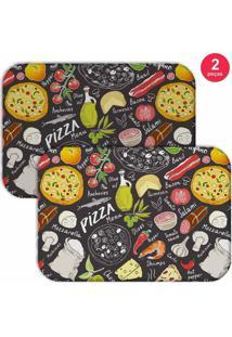 Jogo Americano Love Decor Pizza Colorido - Kanui