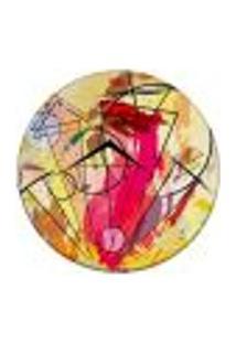 Tapete Redondo Wevans Geométrico Colorido 84Cm