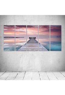 Quadro Decorativo - Spain Pink Sky - Composto De 5 Quadros - Multicolorido - Dafiti