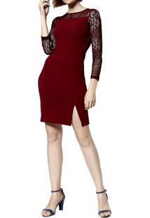 6f38a91c0 Vestido Com Manga Vinho feminino | Shoelover